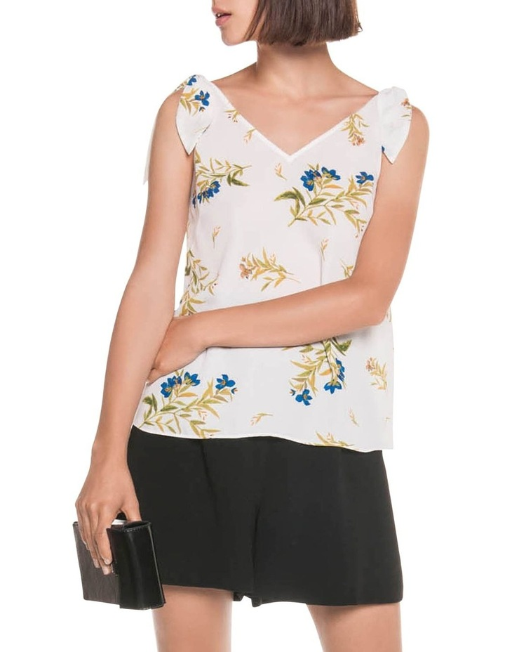Bell Flower Shoulder Tie Top image 1