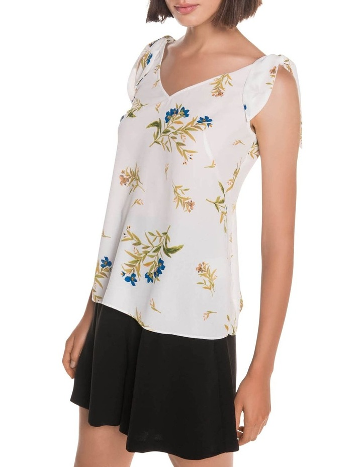 Bell Flower Shoulder Tie Top image 2