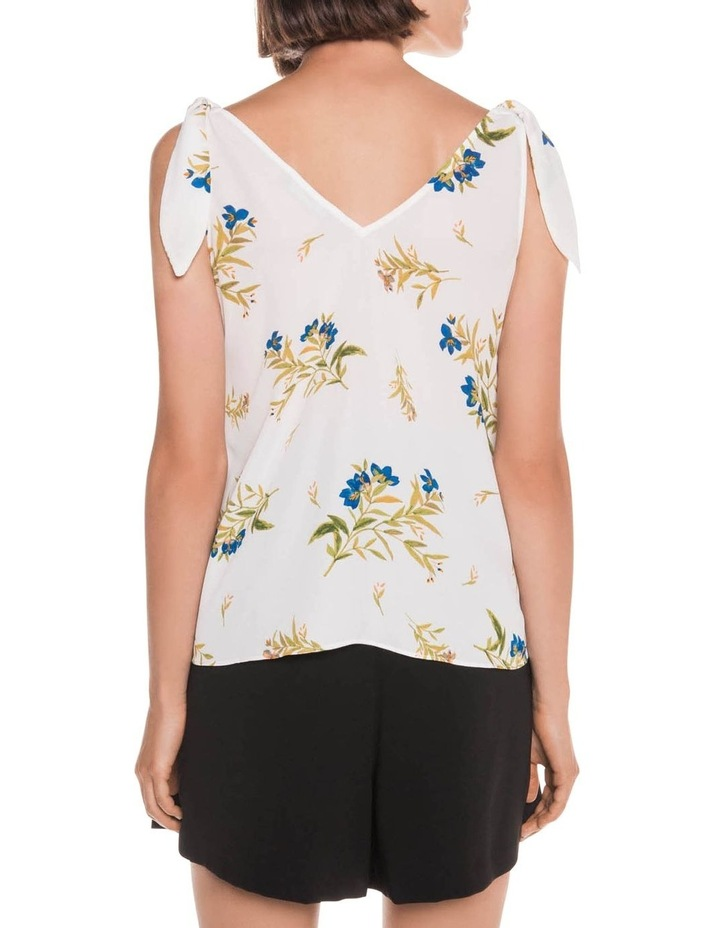 Bell Flower Shoulder Tie Top image 3