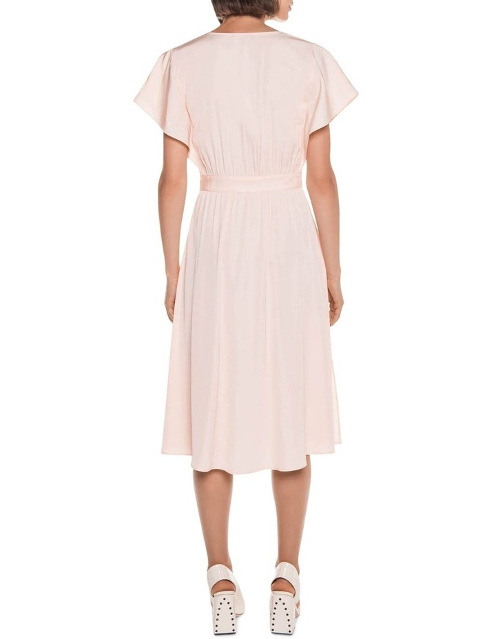 Peach Button Front Midi Dress image 2