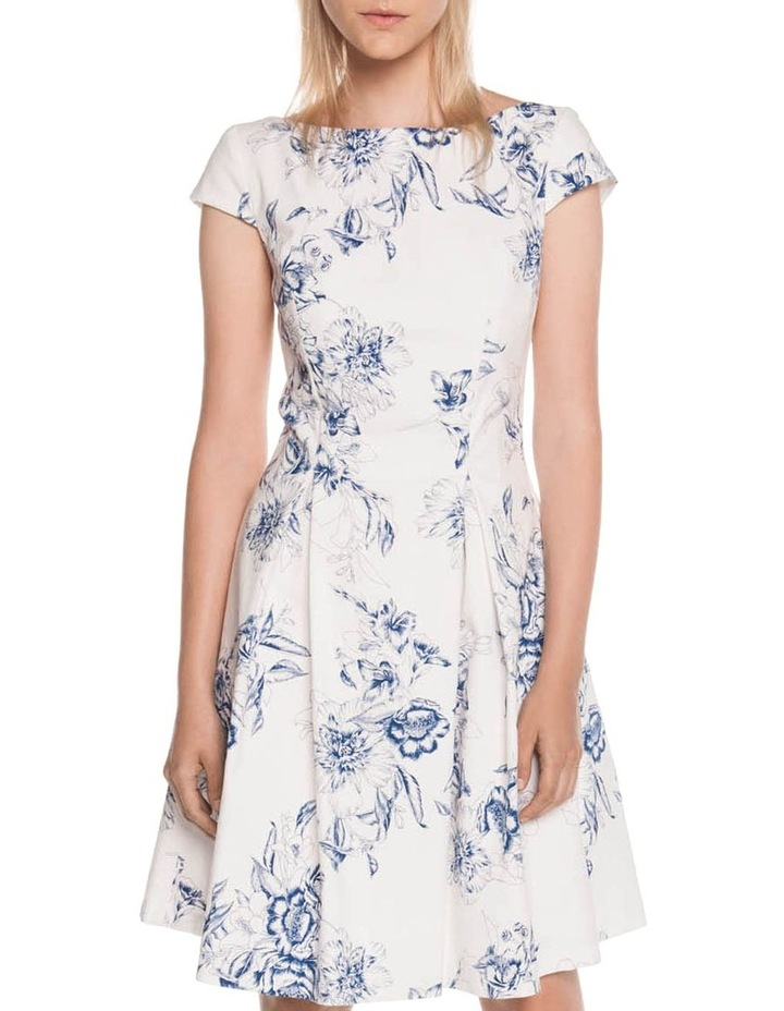 Toile Floral Fit and Flare Dress image 1
