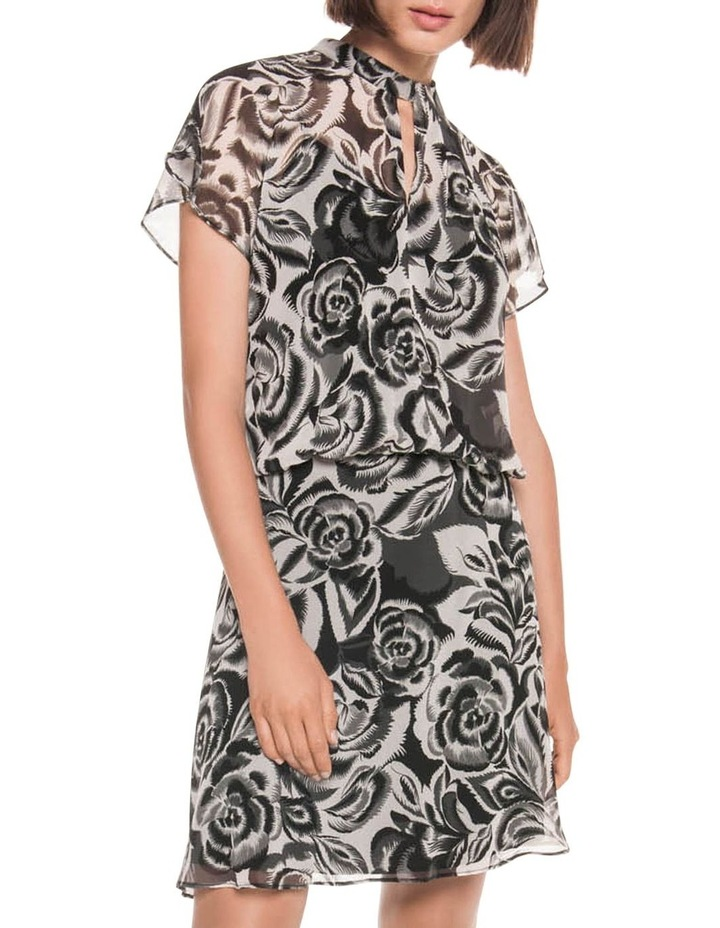Abstract Floral Georgette Dress image 1