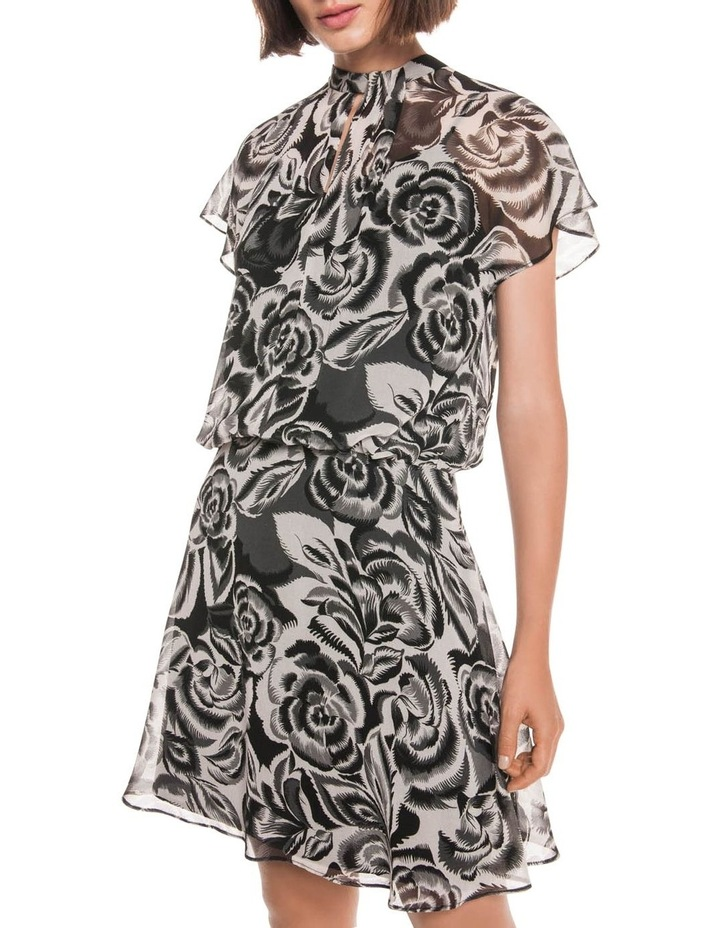 Abstract Floral Georgette Dress image 2