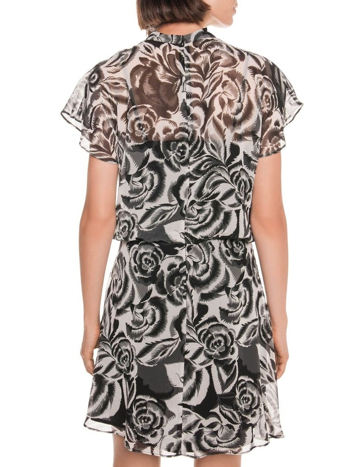 Abstract Floral Georgette Dress image 3