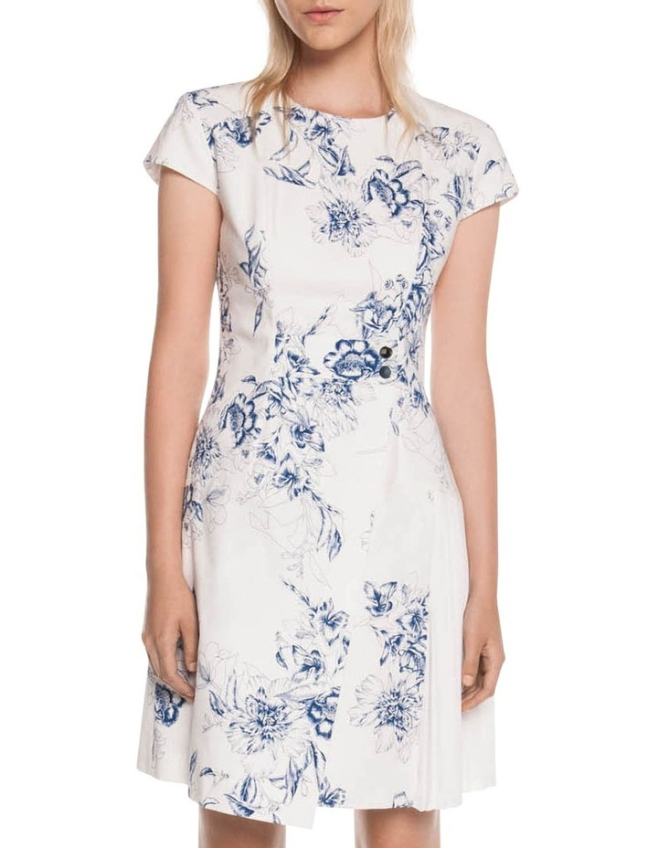 Toile Floral Asymmetric Dress image 1