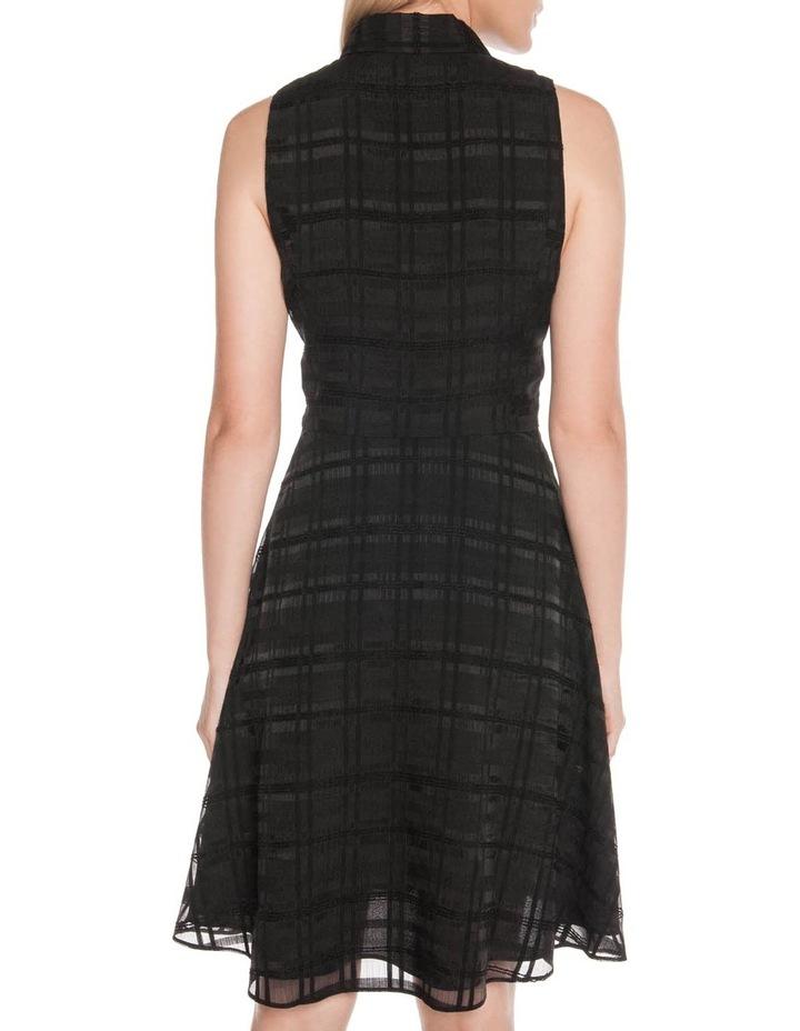 Sheer Black Check Tie Dress image 3