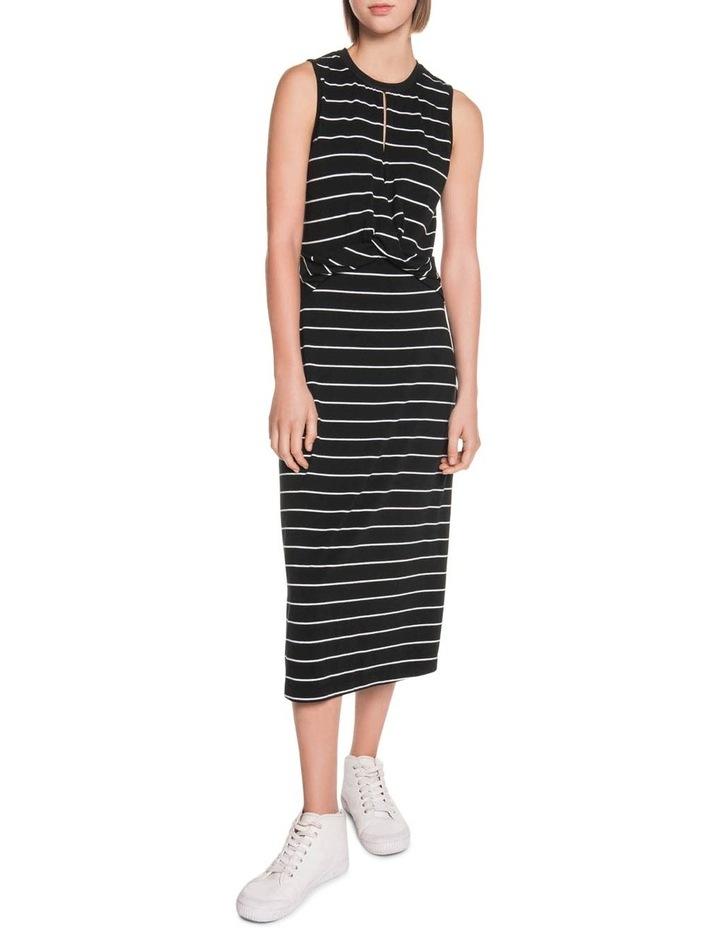 Stripe Jersey Midi Dress image 1