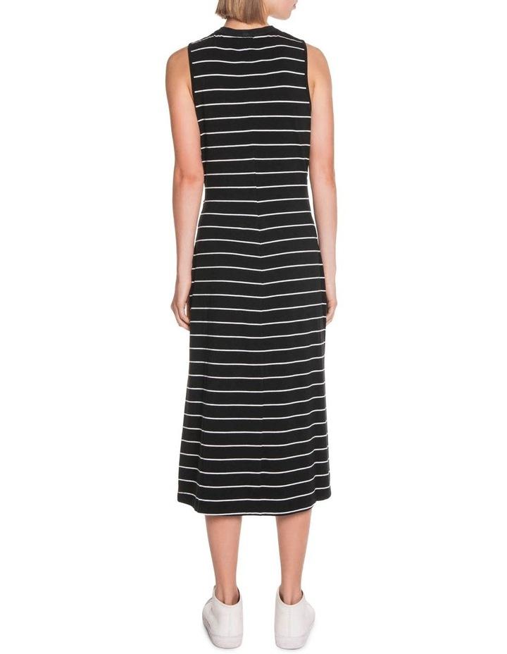 Stripe Jersey Midi Dress image 3