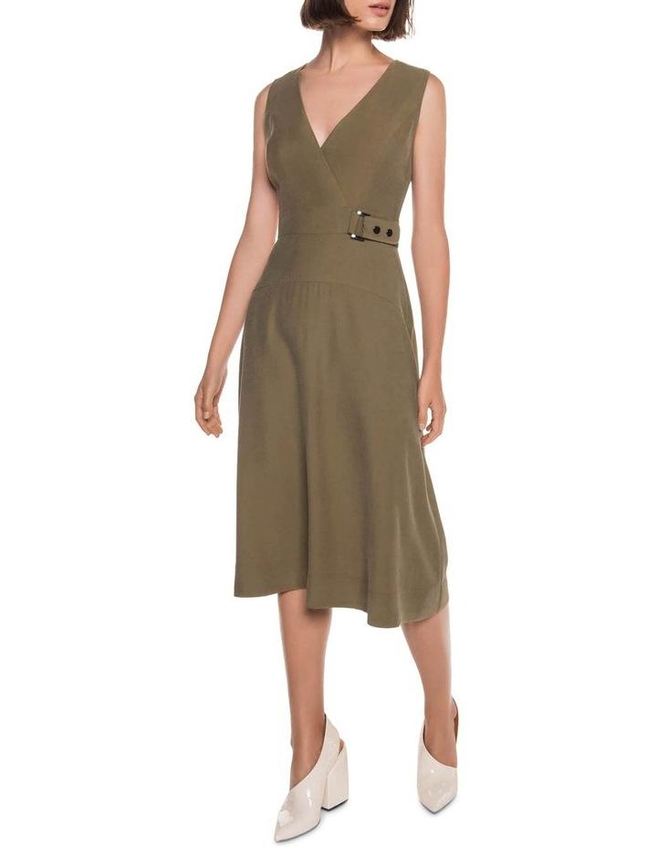 Drapey Pique Midi Dress image 1