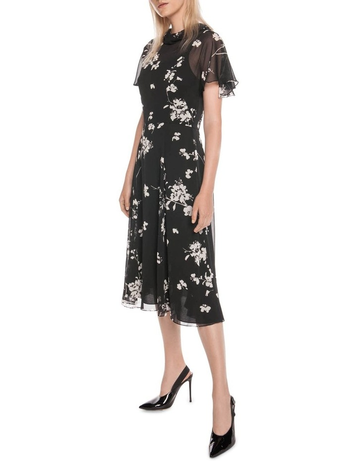 Cherry Blossom Georgette Midi Dress image 1