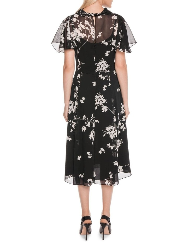 Cherry Blossom Georgette Midi Dress image 3