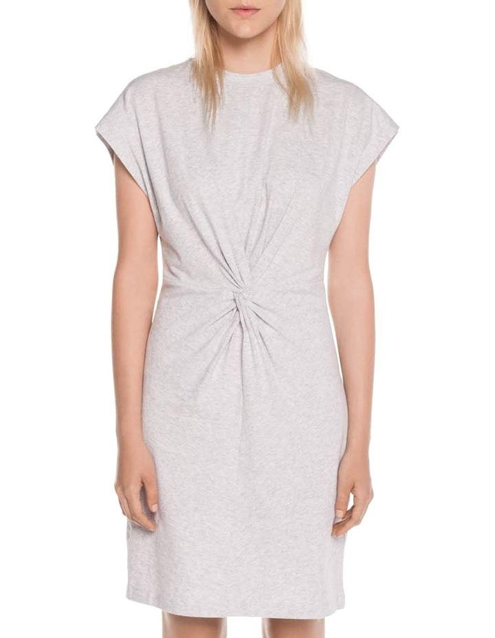Grey Melange Cotton Jersey Dress image 1