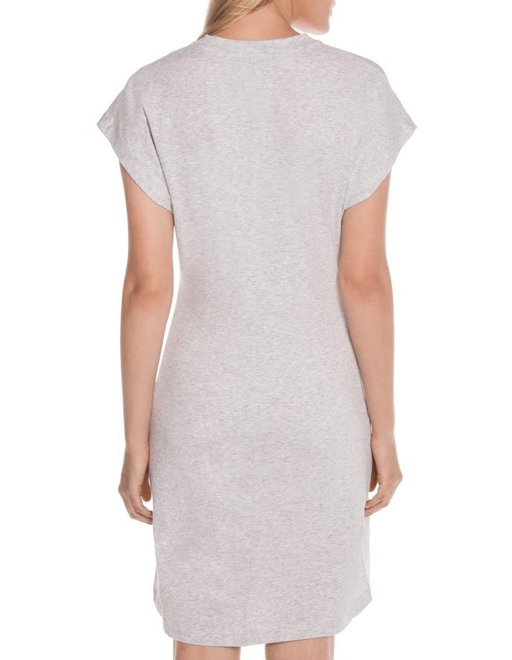 Grey Melange Cotton Jersey Dress image 3