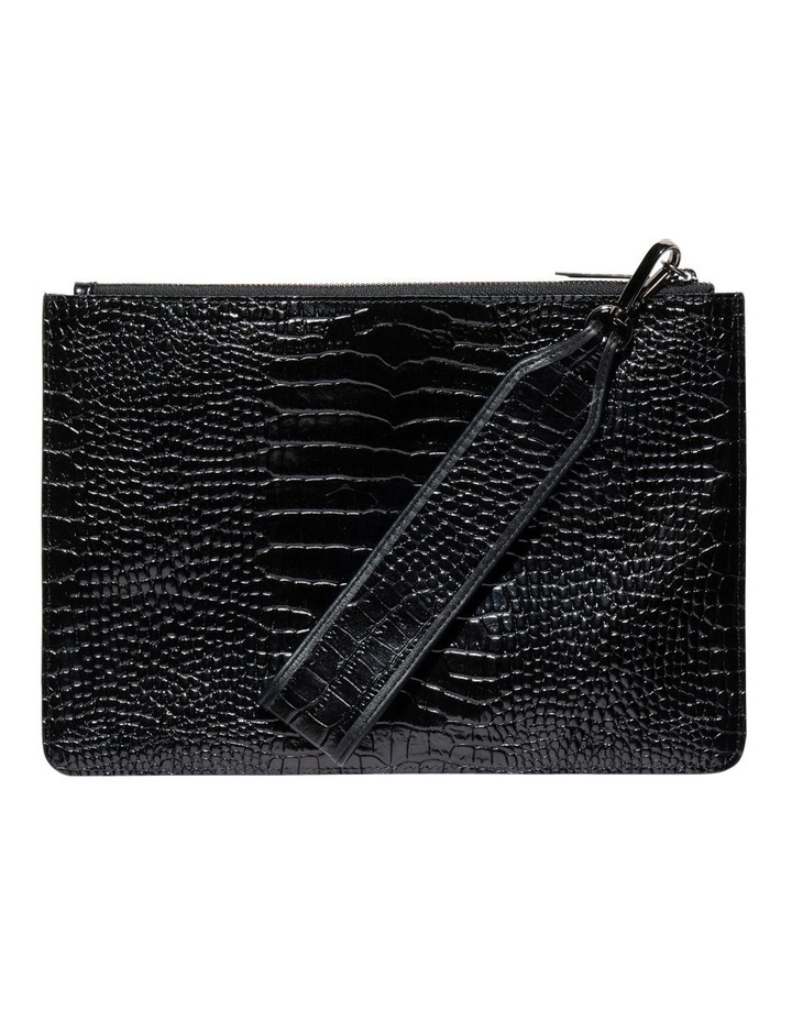 Black Croc Envelope Clutch image 1 0871cc4a60a50