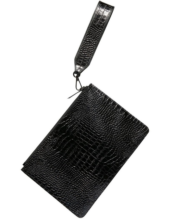 Black Croc Envelope Clutch image 3 8621cb1f73c50