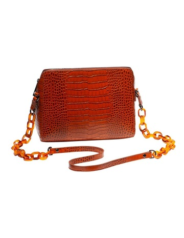 Cue Caramel Croc Cross Body Bag 201c78cd3e010