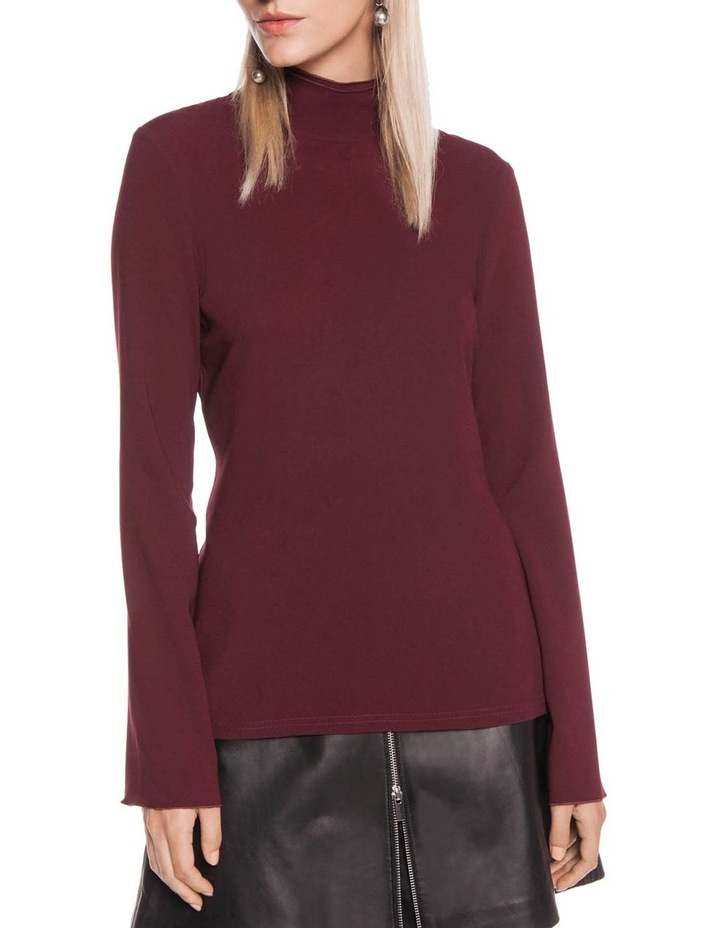 Triacetate Fitted Long Sleeve Top image 2