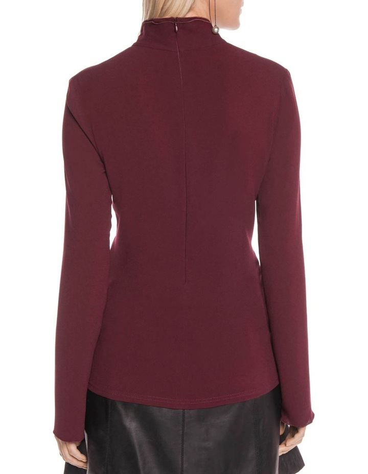 Triacetate Fitted Long Sleeve Top image 3