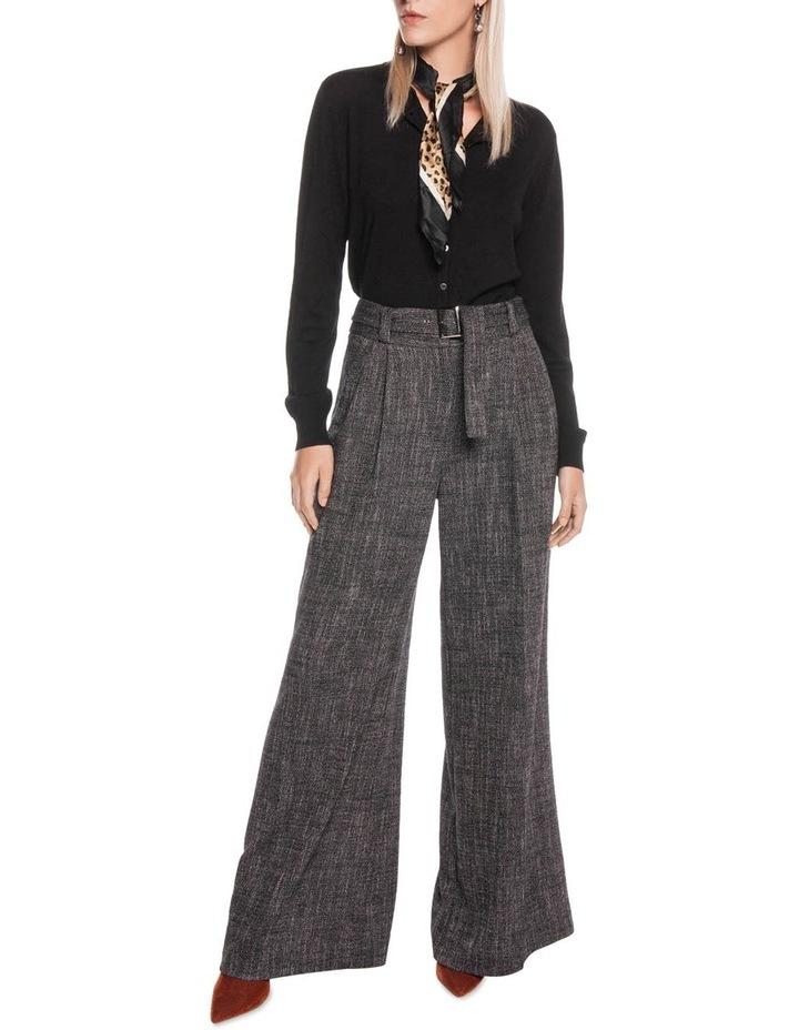 Brushed Tweed Belted Pant image 1