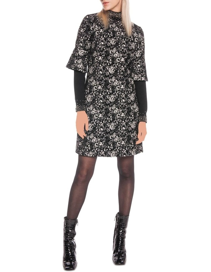 Abstract Floral A-Line Dress image 1