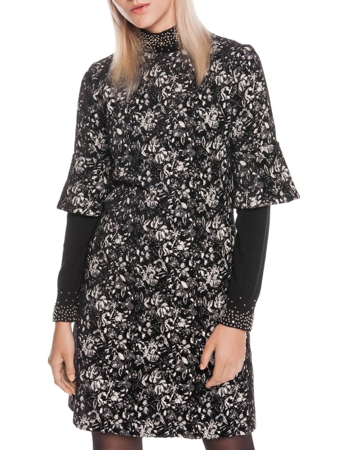 Abstract Floral A-Line Dress image 2