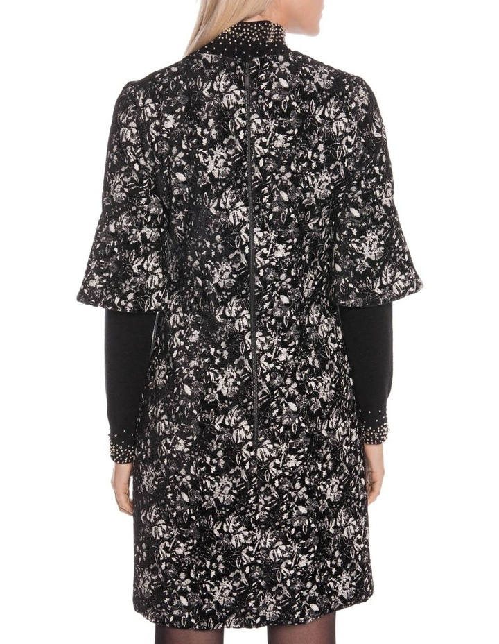 Abstract Floral A-Line Dress image 3