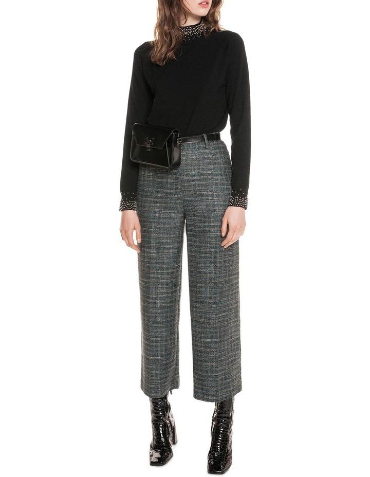 Teal Tweed Cropped Pant image 1