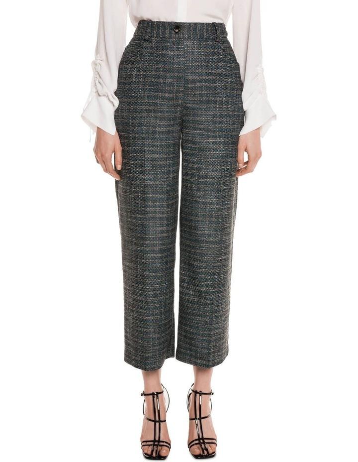 Teal Tweed Cropped Pant image 2