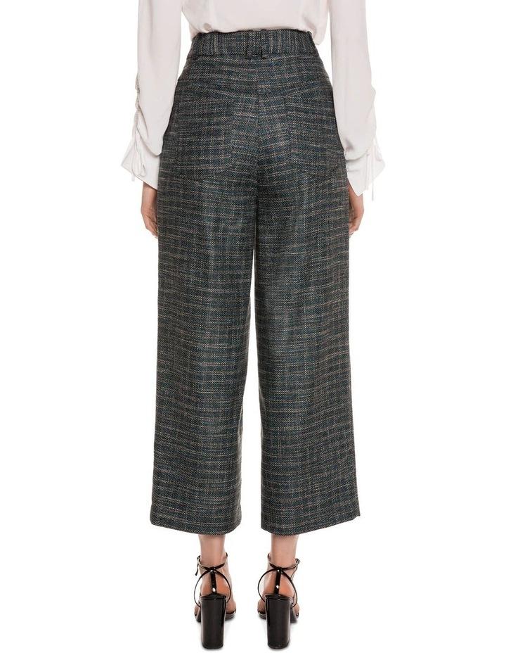 Teal Tweed Cropped Pant image 3