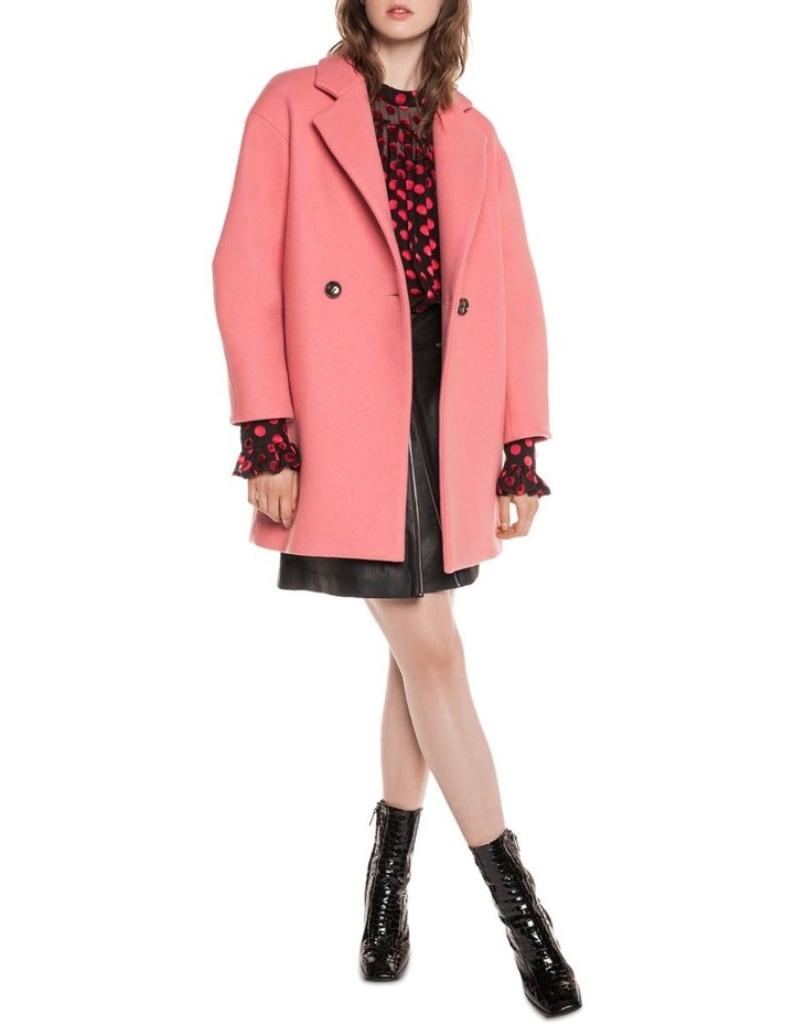 Pink Double Breasted Coat image 1