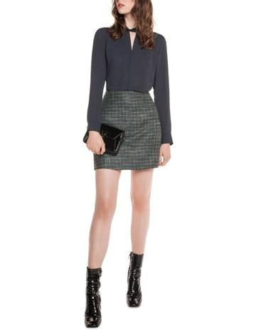 7a9000c2486 Cue Teal Tweed Skirt