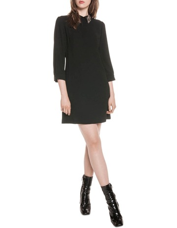 9212400e1c Cue Embellished Collar Crepe Dress
