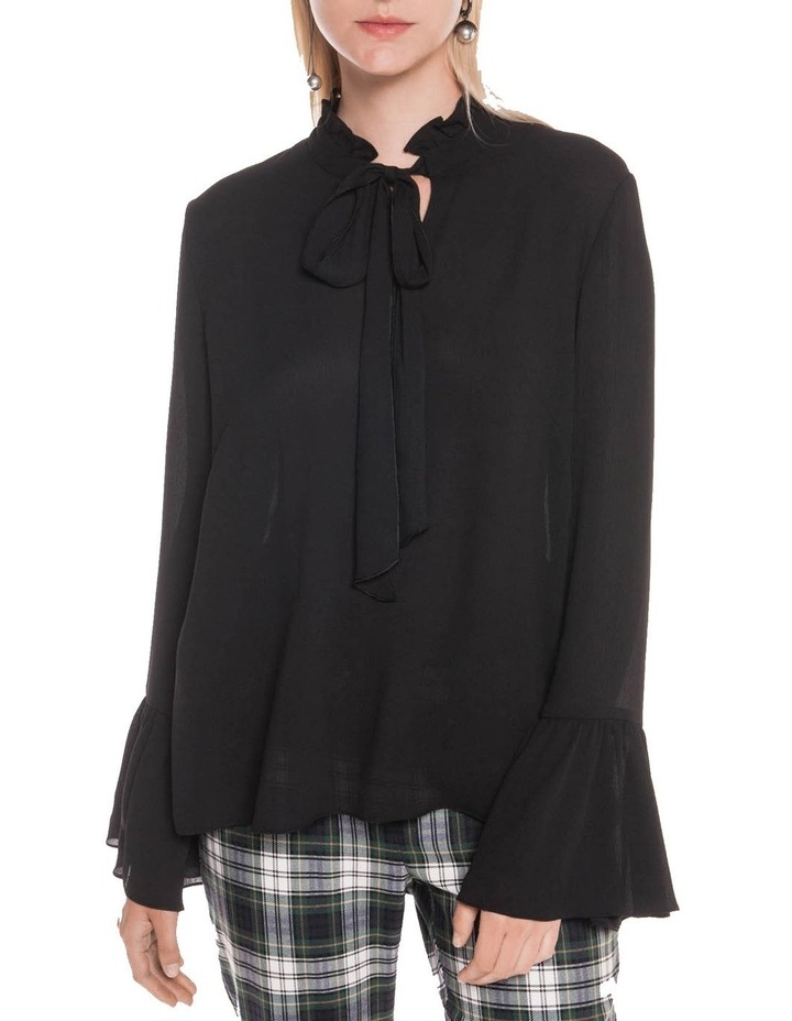 Crinkle Georgette Fluted Cuff Blouse image 2