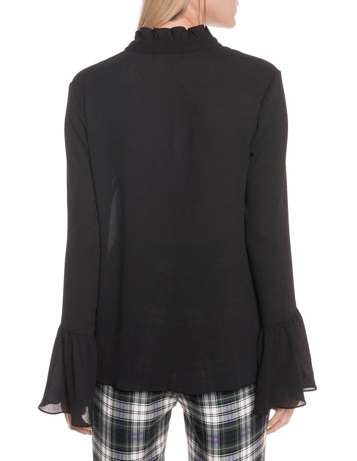 Crinkle Georgette Fluted Cuff Blouse image 3
