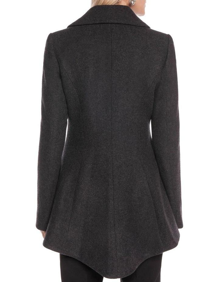 Charcoal Melange Double Breasted Jacket image 3