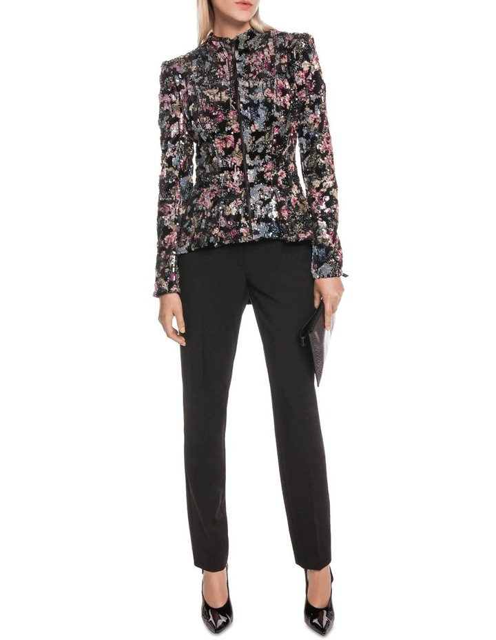Velvet Sequin Zip Front Jacket image 1