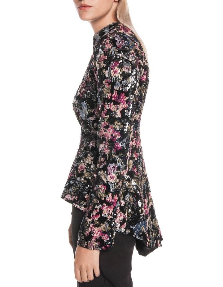 Velvet Sequin Zip Front Jacket image 2