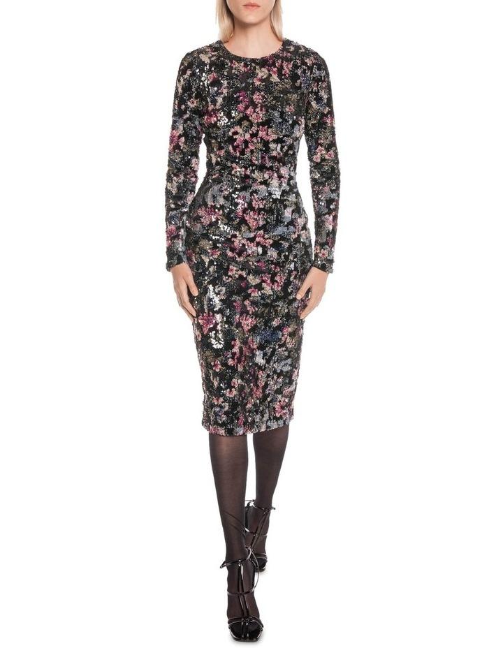 Velvet Sequin Long Sleeve Dress image 1