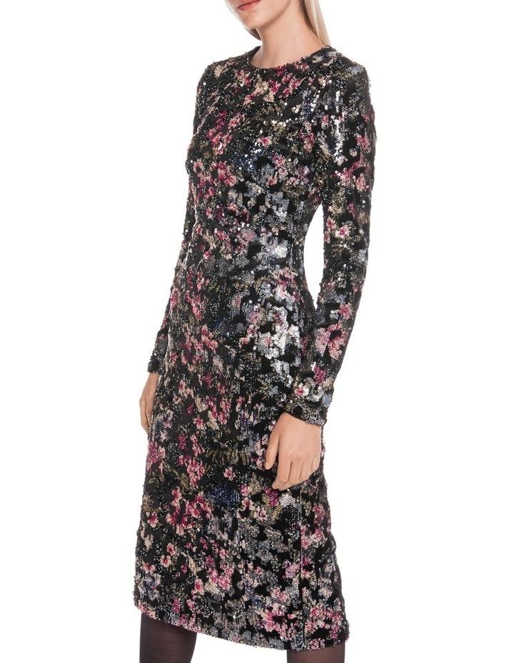 Velvet Sequin Long Sleeve Dress image 2