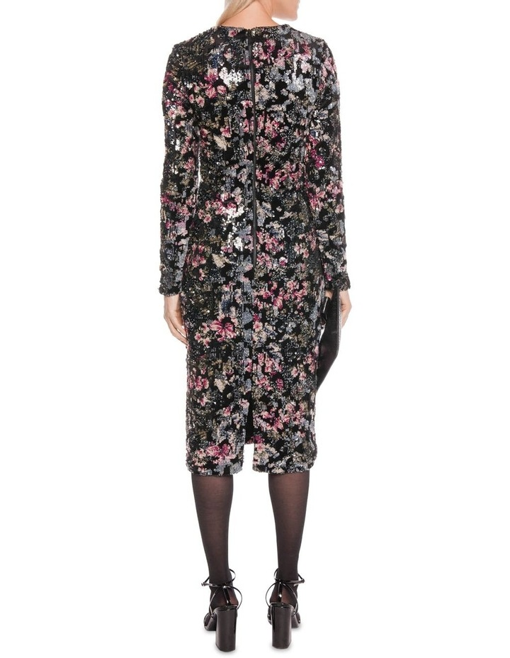Velvet Sequin Long Sleeve Dress image 3