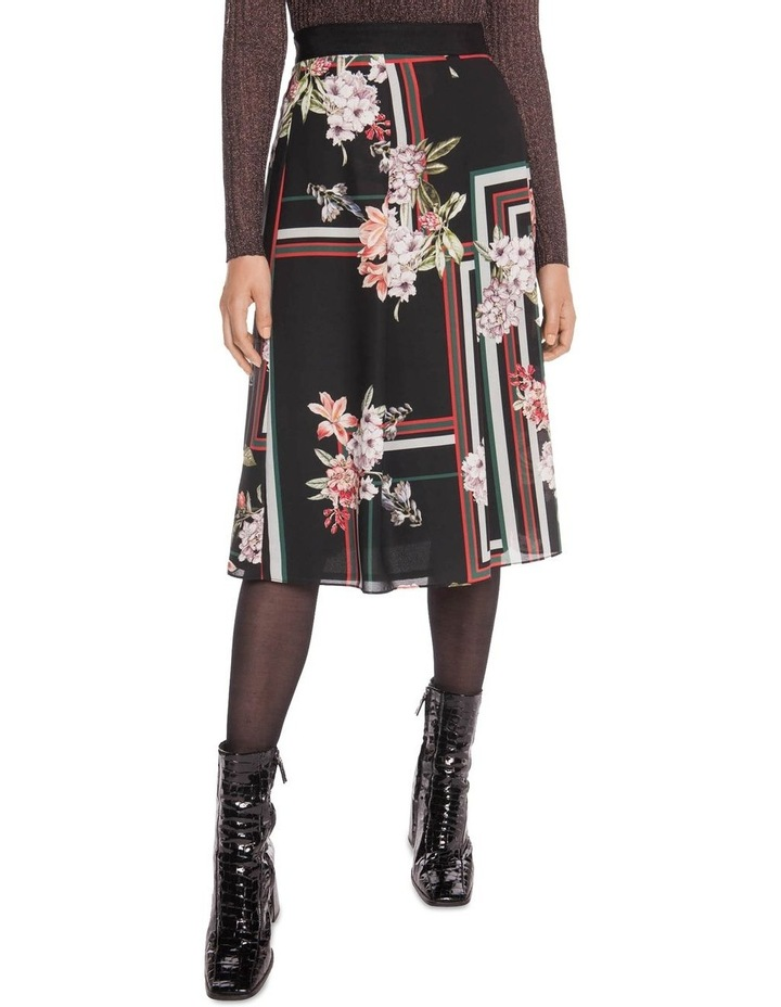 Floral Scarf Pleated Midi Skirt image 2