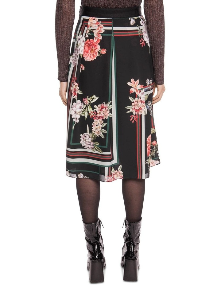 Floral Scarf Pleated Midi Skirt image 3