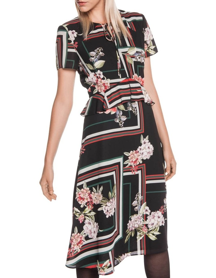 Floral Scarf Midi Dress image 2