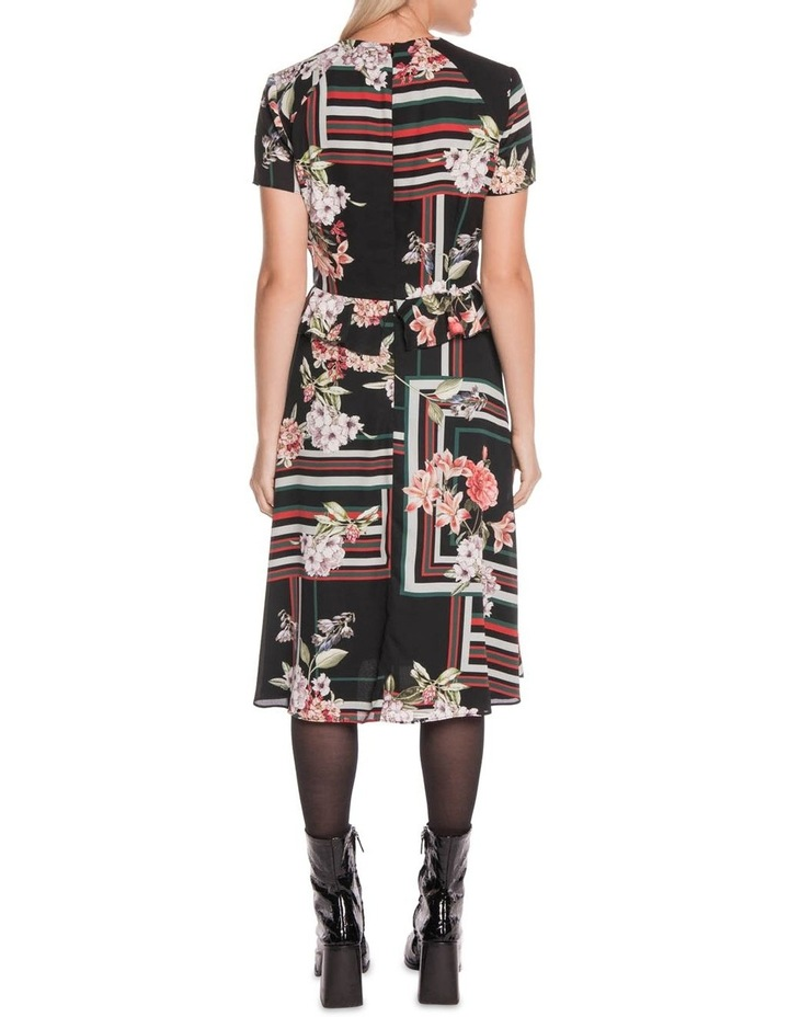 Floral Scarf Midi Dress image 3