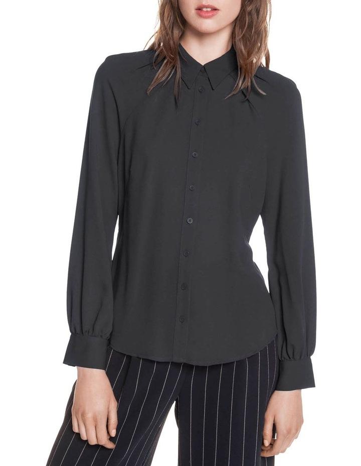 Crepe Raglan Sleeve Shirt image 2