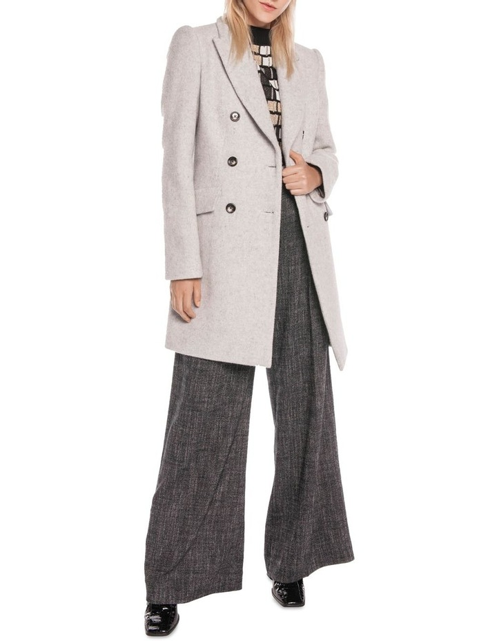 Textured Wool Double Breasted Coat image 1