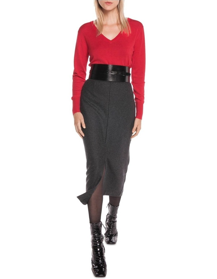 Charcoal Melange Felt Pencil Skirt image 1