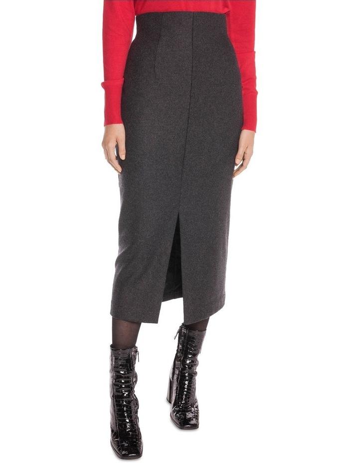Charcoal Melange Felt Pencil Skirt image 2