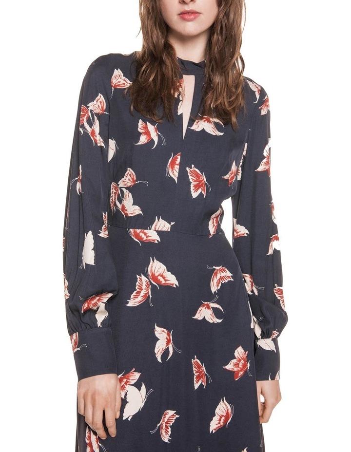Butterfly Twill Asymmetric Hem Dress image 2