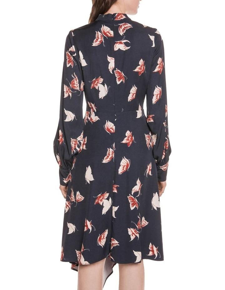 Butterfly Twill Asymmetric Hem Dress image 3